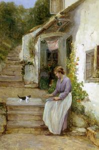 Playing with the Kitten by Ernest Walbourn
