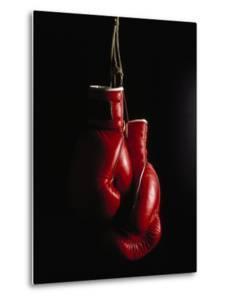 Hanging Boxing Gloves by Ernie Friedlander