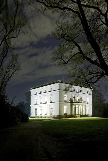 Ernst Barlach House, Museum, at Night, Illuminated, Park-Axel Schmies-Photographic Print