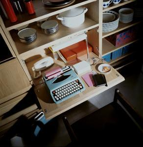 House & Garden - October 1968 - Typewriter on Compact Desk by Ernst Beadle