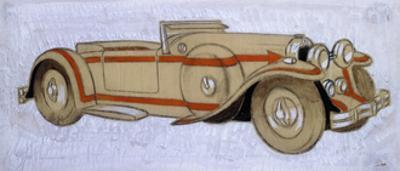 An Illustration Showing a 1924 Delage with Coachwork by Letourneur Et Marchand
