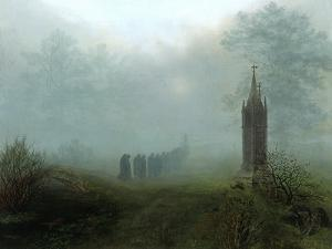 Procession in the Mist, 1828 by Ernst Ferdinand Oehme