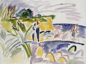 Beach at Fehmarn, 1913 by Ernst Ludwig Kirchner