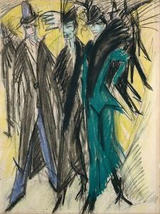 Berlin Street Scene by Ernst Ludwig Kirchner