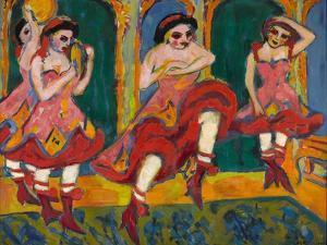 Czardas Dancers, 1908-1920 by Ernst Ludwig Kirchner