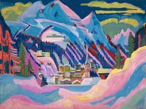 Davos in Winter, 1923 by Ernst Ludwig Kirchner