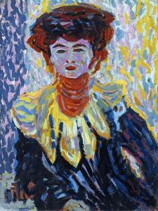 Doris with Ruff Collar, C. 1906 by Ernst Ludwig Kirchner