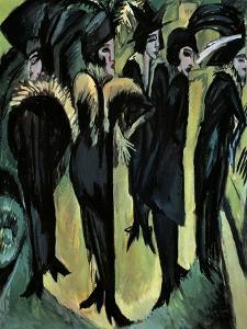 Five Women on the Street by Ernst Ludwig Kirchner