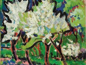 Flowering Trees IV; Bluhende Baume IV, 1909 by Ernst Ludwig Kirchner