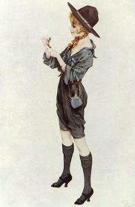 Girl Scout, Kirchner 1914 by Ernst Ludwig Kirchner