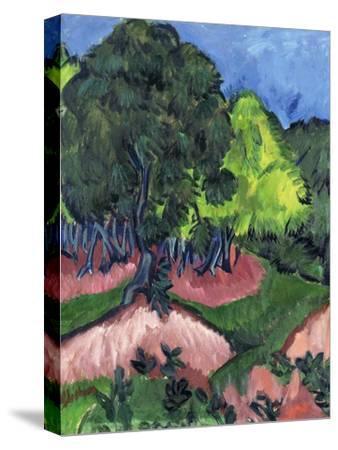 Landscape with Chestnut Tree; Landschaft Mit Kastanienbaum, 1913