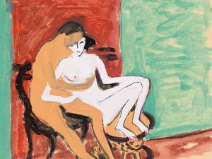 Lovers or Young Couple, 1910 by Ernst Ludwig Kirchner