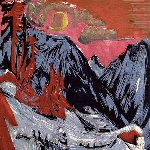 Mountains in Winter, 1919 by Ernst Ludwig Kirchner