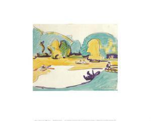 Park Landscape in Dresden, c.1910 by Ernst Ludwig Kirchner