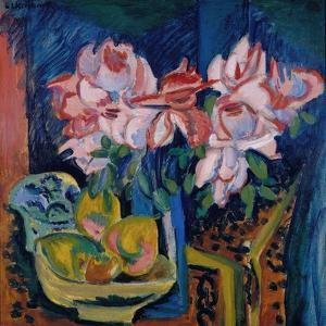 Pink Roses, 1918 by Ernst Ludwig Kirchner