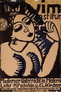 Poster Institute Muim; Plakat Muim Institut, 1911 by Ernst Ludwig Kirchner