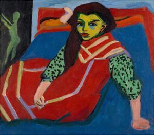Seated Girl (Fränzi Fehrmann), 1910 by Ernst Ludwig Kirchner