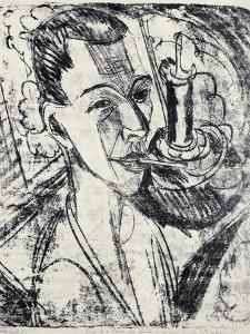 Self-Portrait with Cigarette, 1915 by Ernst Ludwig Kirchner