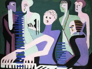 Singer on Piano by Ernst Ludwig Kirchner