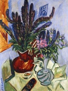 Still Life with a Vase of Flowers; Stilleben Mit Blumenvasen, 1912 by Ernst Ludwig Kirchner
