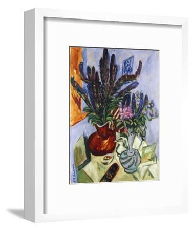 Still Life with a Vase of Flowers by Ernst Ludwig Kirchner
