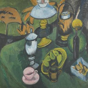 Still Life with Lamp by Ernst Ludwig Kirchner