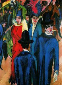 Street Scene in Berlin by Ernst Ludwig Kirchner