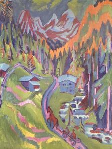 The Sertig Path in Summer, 1924 by Ernst Ludwig Kirchner