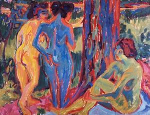 Three Nudes by Ernst Ludwig Kirchner