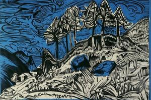 Trees on a Mountain Slope by Ernst Ludwig Kirchner