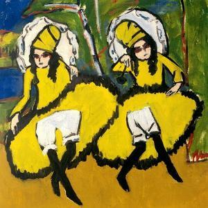 Two Dancers, 1910-1911 by Ernst Ludwig Kirchner