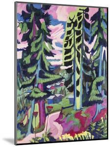 Wild Mountain (Mountain Forest; Summer Forest) by Ernst Ludwig Kirchner