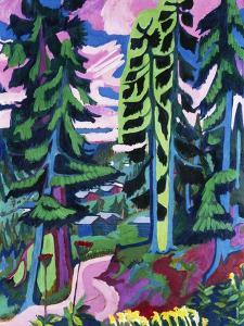 Wildboden (Bergwald; Sommerlicher Waldweg) by Ernst Ludwig Kirchner