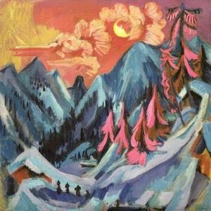 Winter Landscape in Moonlight, 1919 by Ernst Ludwig Kirchner