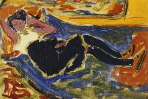 Woman with Black Stockings; Frau Mit Schwarzen Strumpfen (Die Schwarze Grete), C.1908-09 by Ernst Ludwig Kirchner