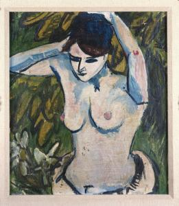 Woman with Raised Arms, 1910 by Ernst Ludwig Kirchner