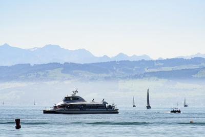 Ferry, Friedrichshafen, Lake of Constance, Baden-Wurttemberg, Germany by Ernst Wrba