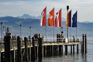 Ship Dock Kressbronn, Lake of Constance, Baden-Wurttemberg, Germany by Ernst Wrba