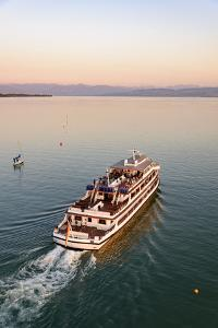 Ship, Friedrichshafen, Lake of Constance, Baden-Wurttemberg, Germany by Ernst Wrba