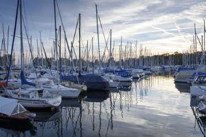 Ultramarina Yacht Harbour, Kressbronn, Lake of Constance, Baden-Wurttemberg, Germany by Ernst Wrba