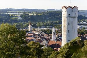 View at Flour Pouch and the Old Town of Ravensburg, Baden-Wurttemberg, Germany by Ernst Wrba
