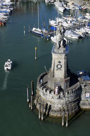 View of the Lighthouse, Lion in the Port Entrance, Germany