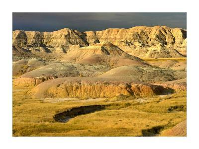 Eroded buttes, Badlands National Park, South Dakota-Tim Fitzharris-Art Print