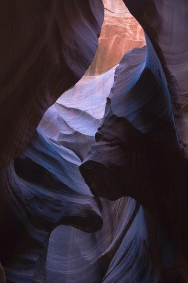 Eroded Curves in Sandstone-Jean Brooks-Photographic Print