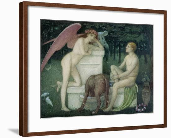Eros and Ganymede-Alfred Sacheverell Coke-Framed Giclee Print