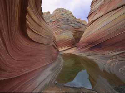 Erosion Has Created a Swirling Pattern in the Rocks-Melissa Farlow-Photographic Print