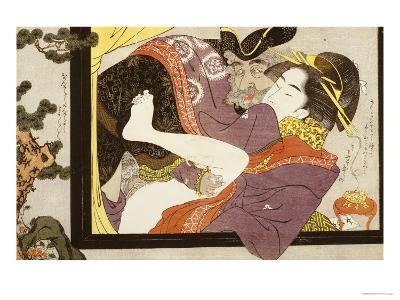 Erotic Scene Eishi School--Giclee Print