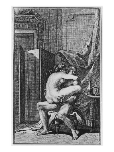 Erotic Scene, Illustration from a French Book--Giclee Print