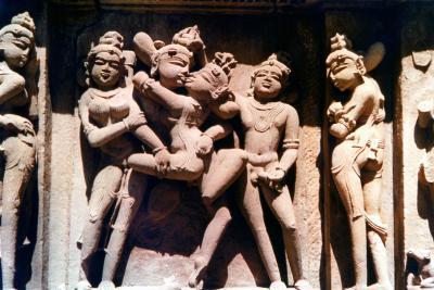 Erotic Sculpture, Hindu Temple, Khajuraho, India, 950-1050--Photographic Print