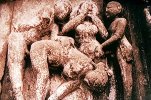 Erotic Sculpture, Hindu Temple, Khajuraho, India, 950-1050